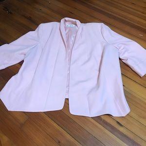 plus size size 14 pale pink suit jacket blazer
